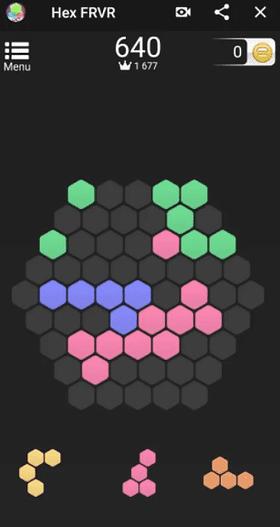 Hex FRVR est un jeu similaire à Tetris