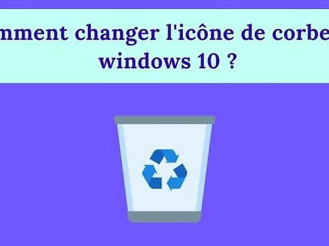 Comment changer icone corbeille windows 10 ?