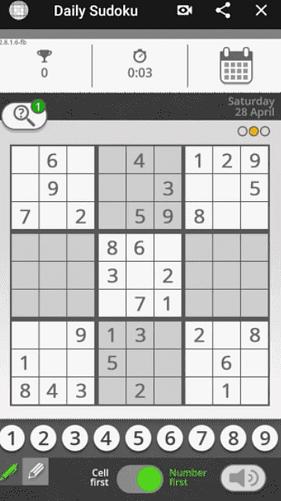 puzzle sudoku dans le journal