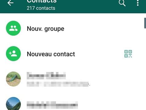 ajouter un contact sur Whatsapp
